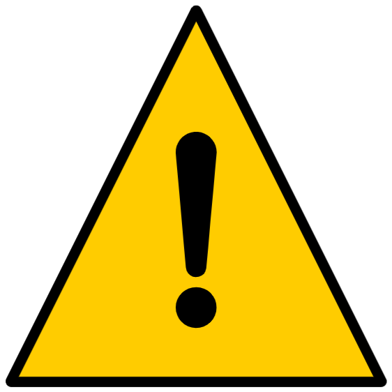 Warning sign, exclamation mark