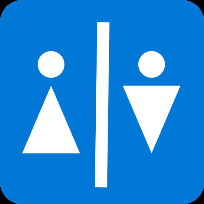 Toilet door sign 1