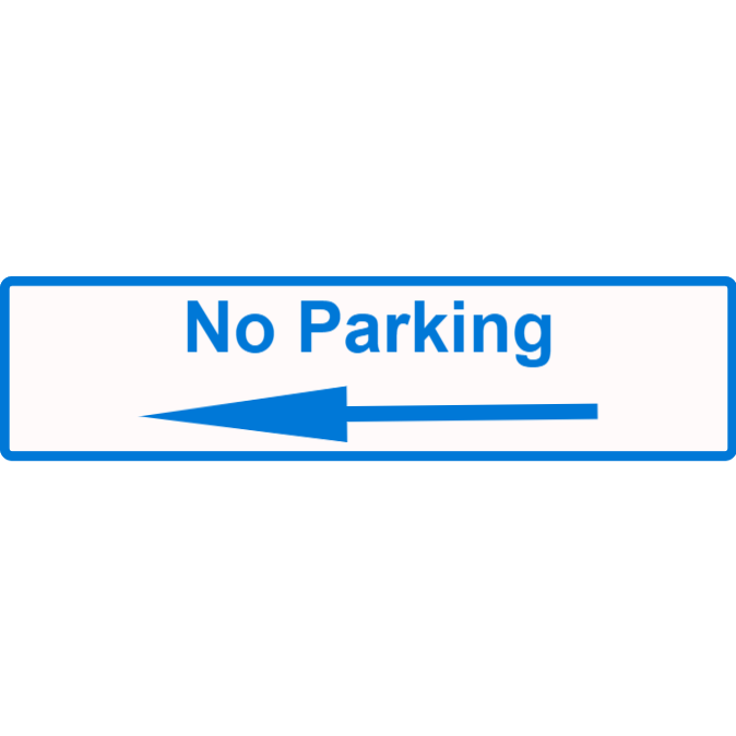 No parking to the left
