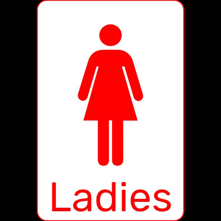Red toilet sign - Ladies