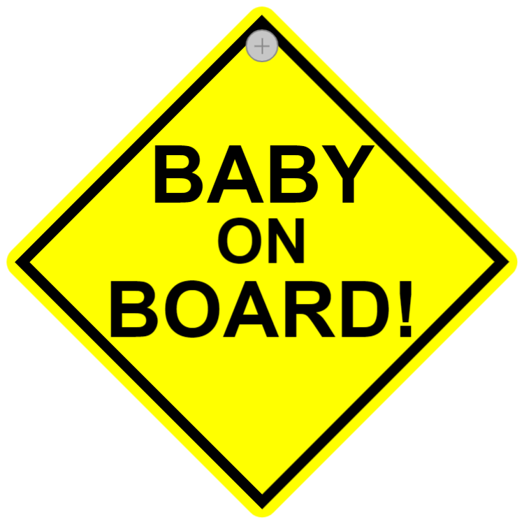 Car sign - baby on board