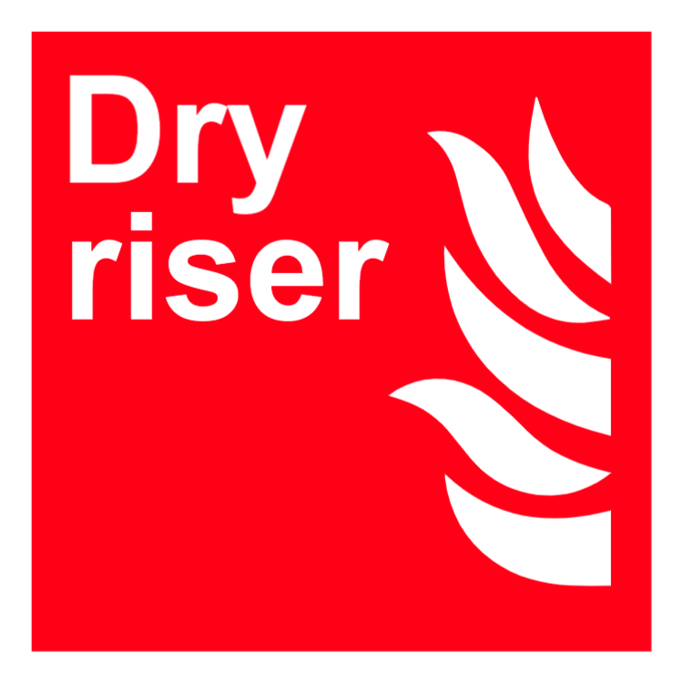 Dry riser sign