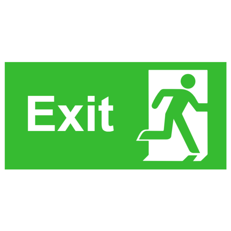 Exit sign - right