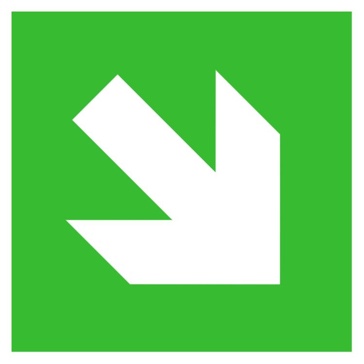 Diagonal arrow sign