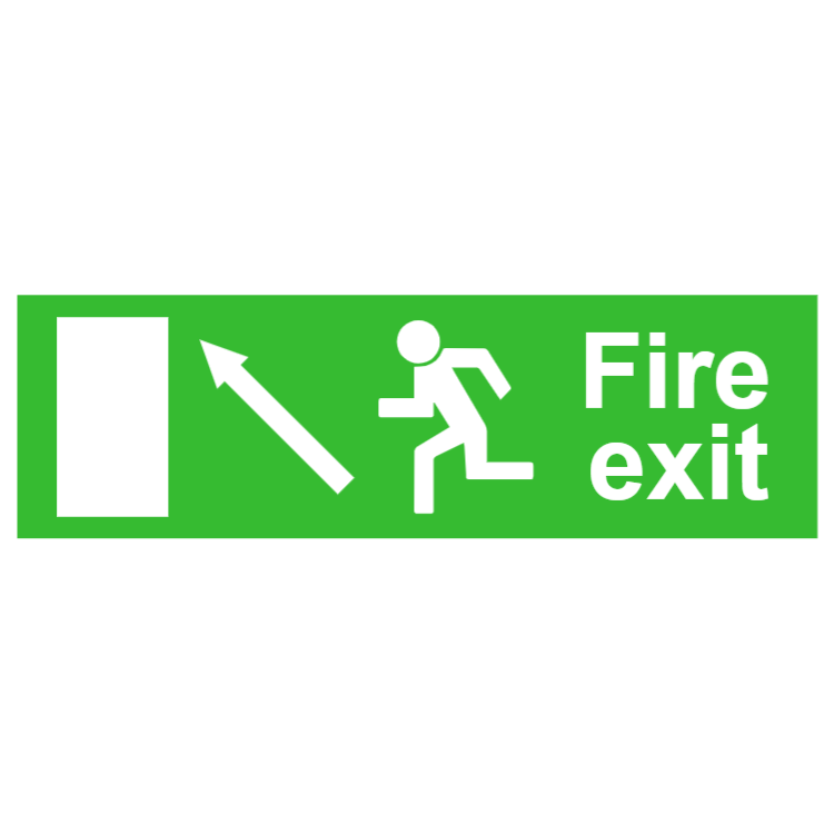Fire exit sign 2