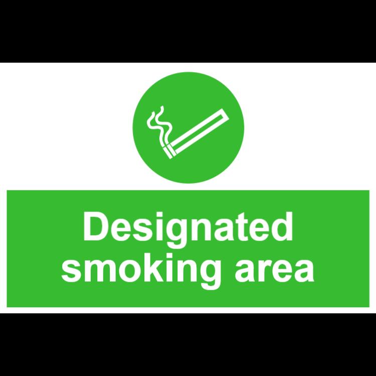 Designated smoking area sign 1