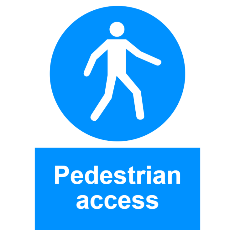 Pedestrian access sign