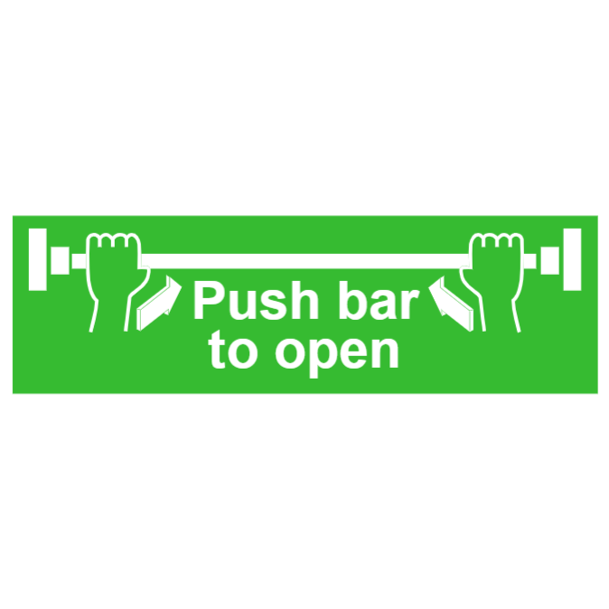 Push bar to open sign 1