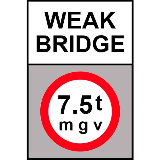 Weak bridge sign