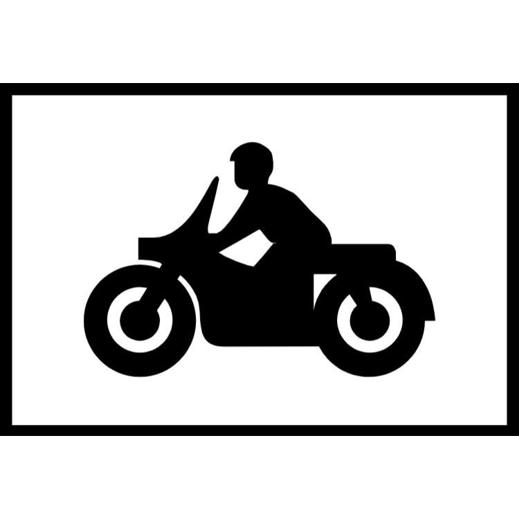 Parking place for solo motor cycles sign