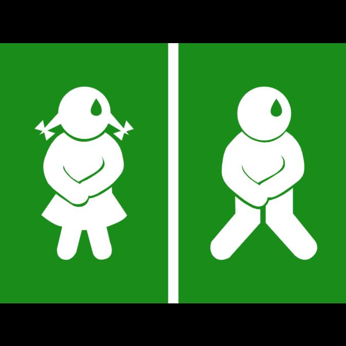 Toilet door sign 3