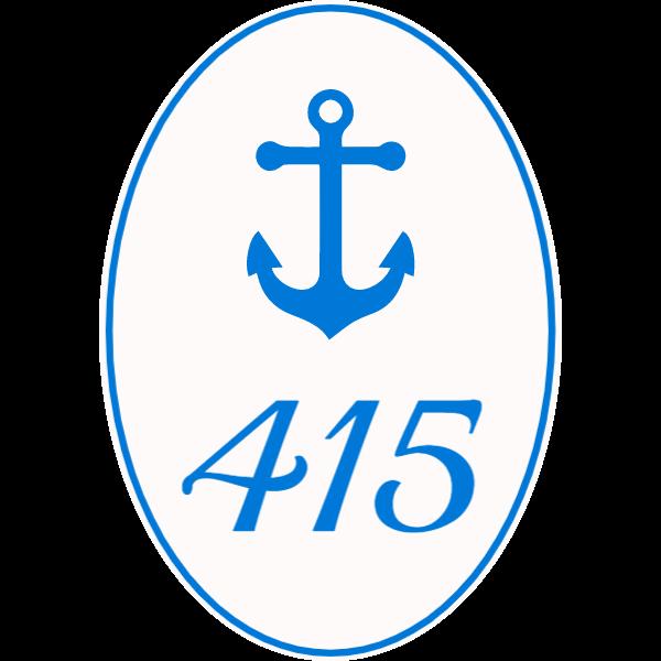 Door number with anchor