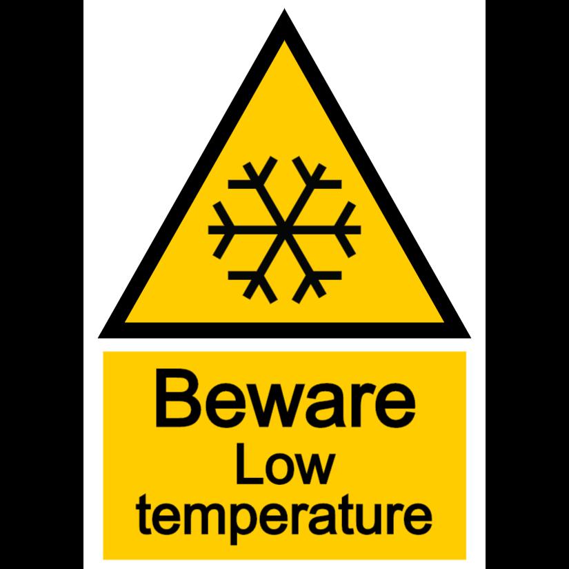 Beware - low temperature