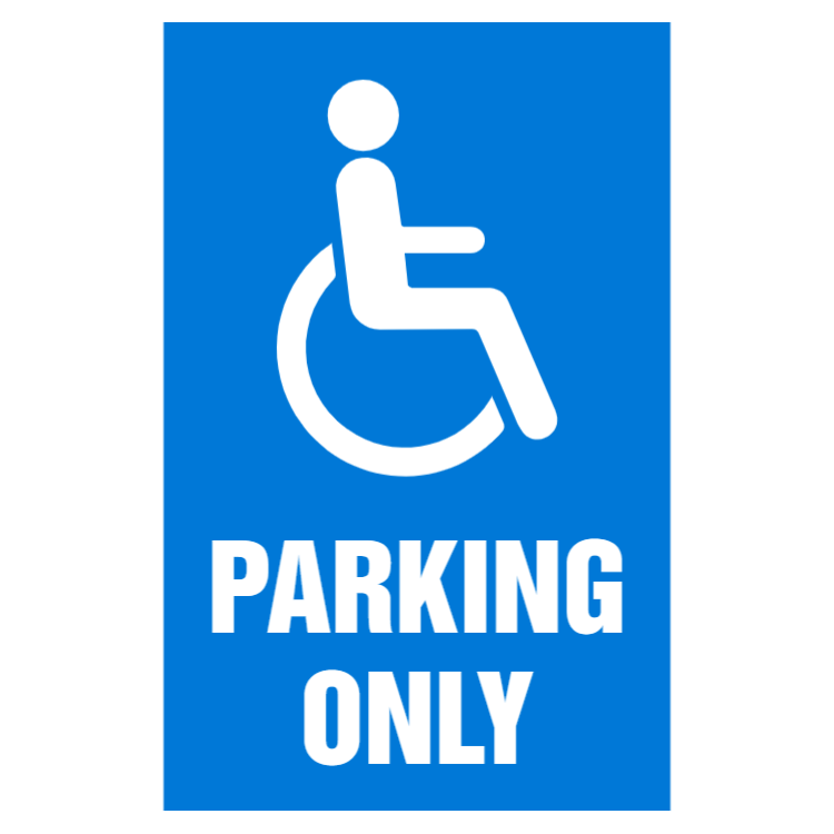 Disabled sign - Parking only