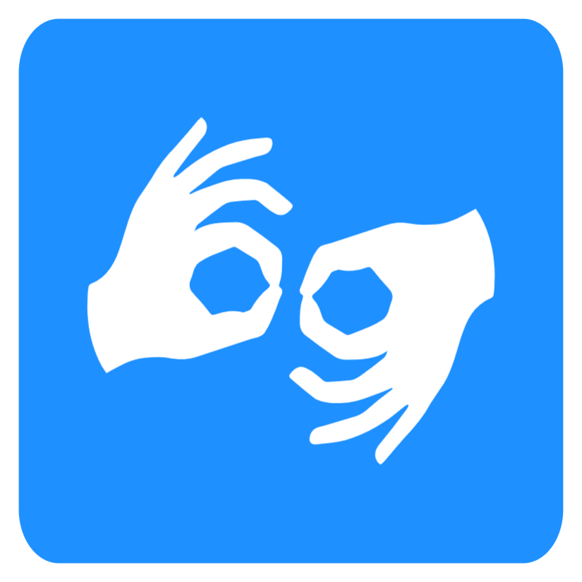 Disabled sign- Sign language