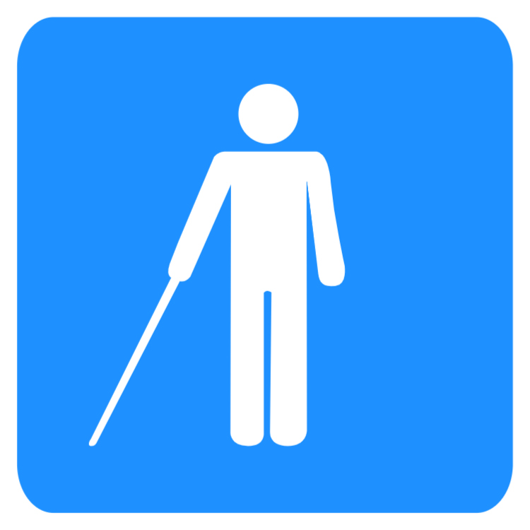 Disabled sign - Blind