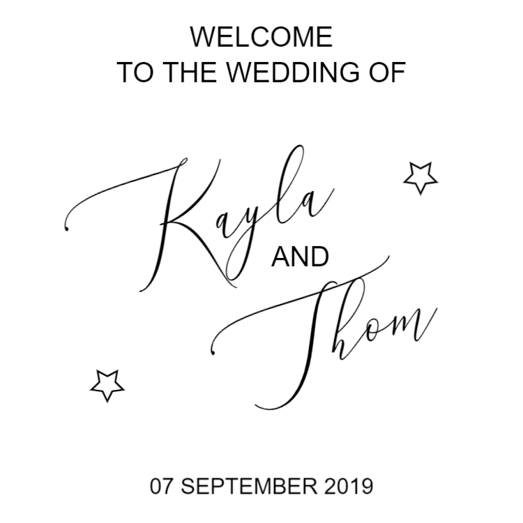 Welcome to the wedding of