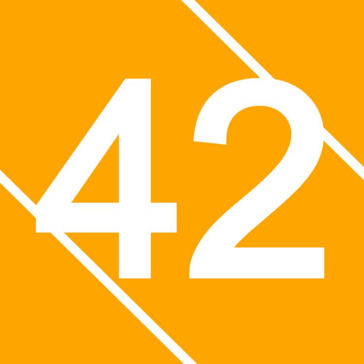 Orange house number sign