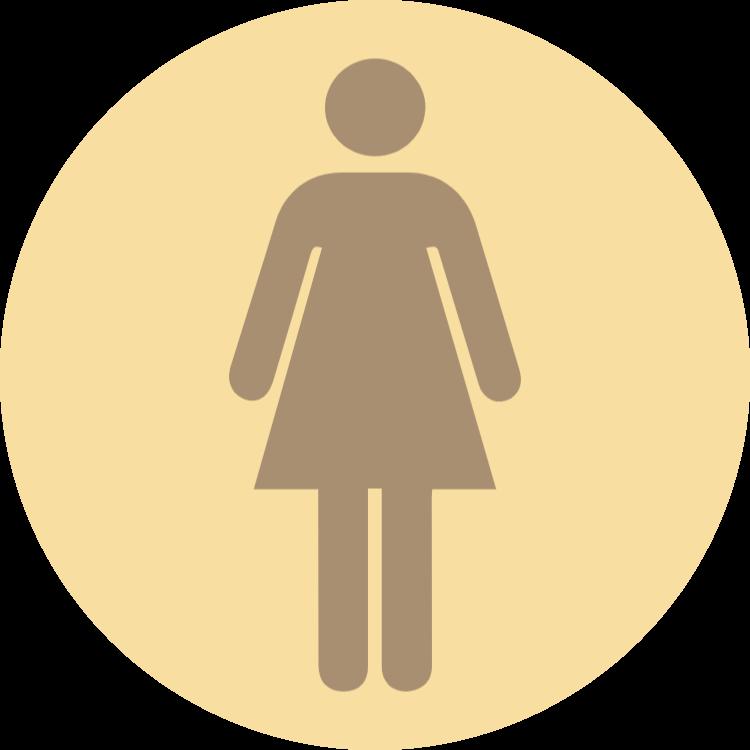 Wooden toilet sign - women
