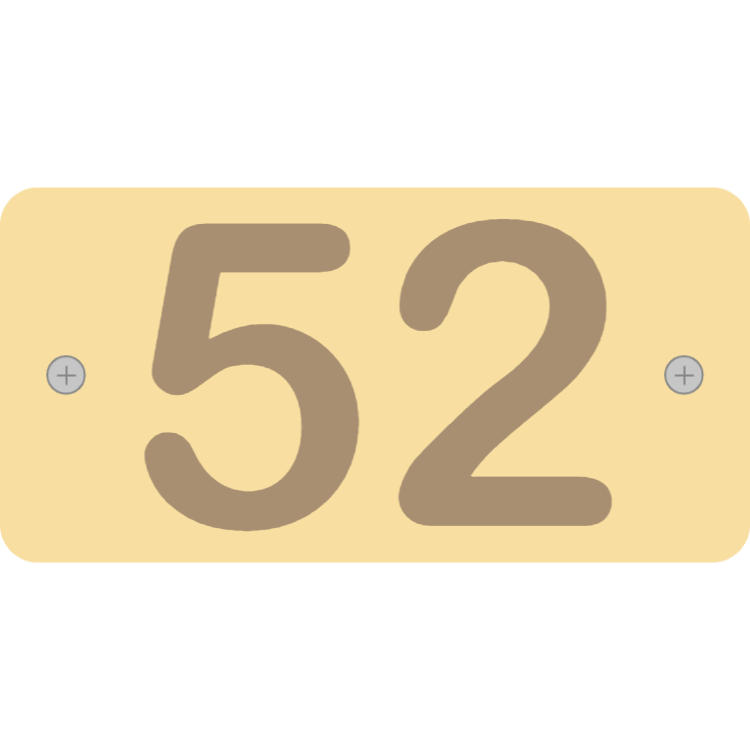 Wooden letterbox plate
