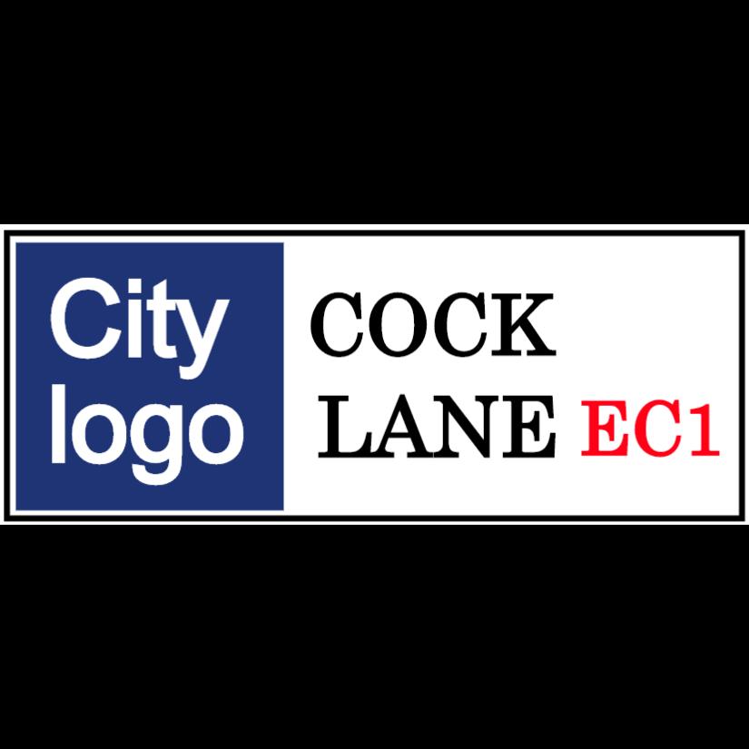 Custom street name sign