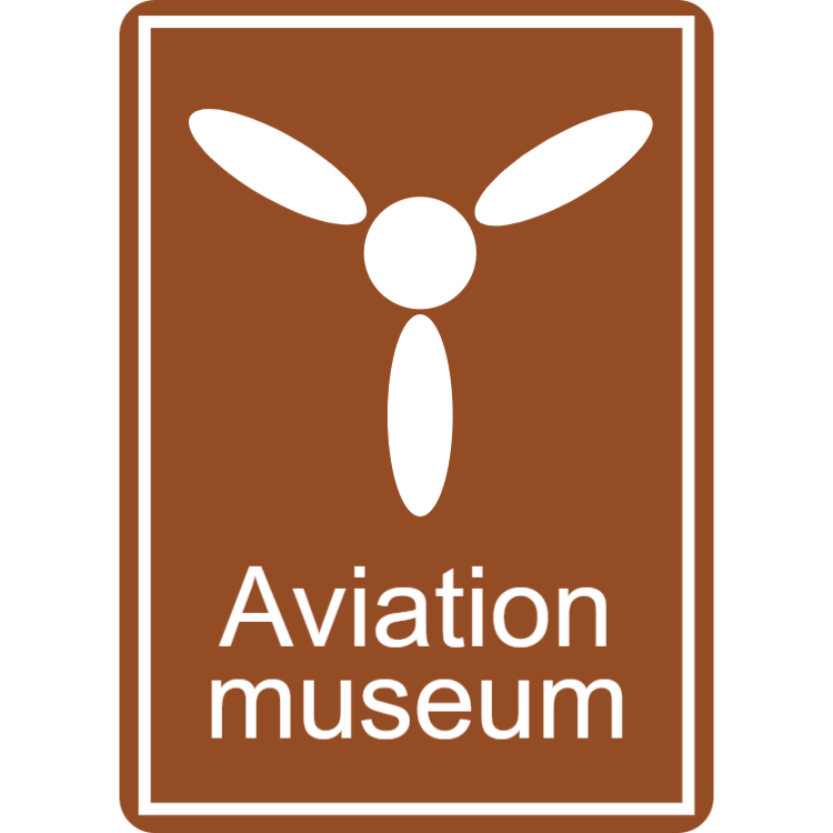 Aviation museum sign