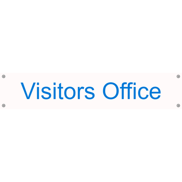 Visitors office sign