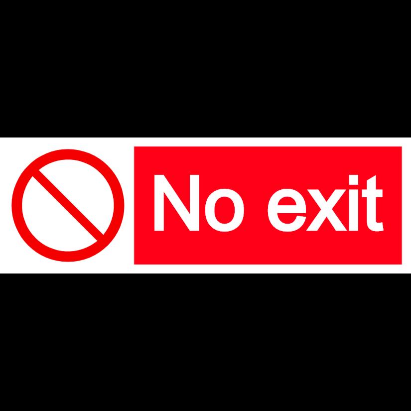 No exit - landscape sign