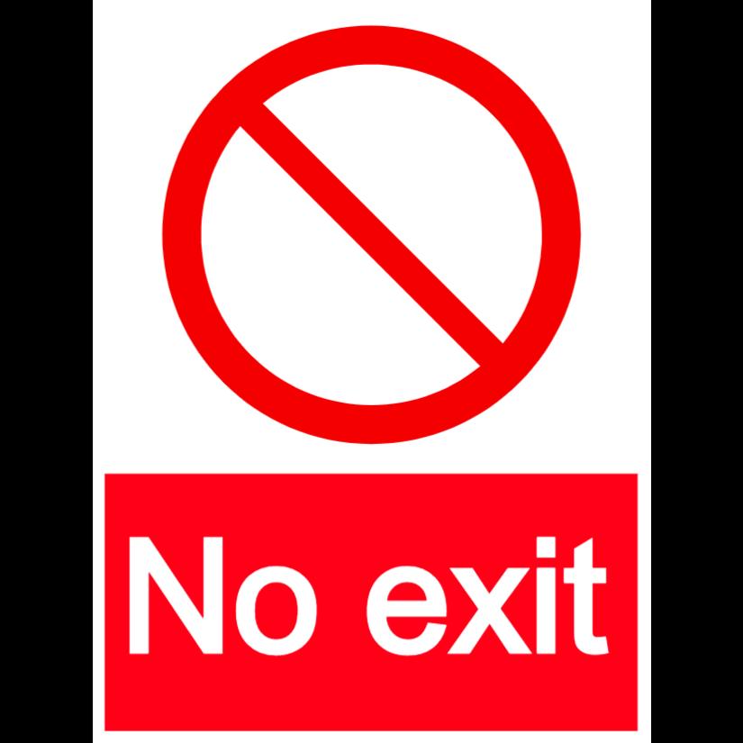 No exit - portrait sign