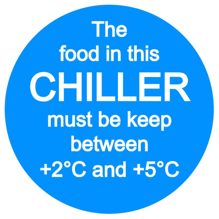 Food refrigeration sign