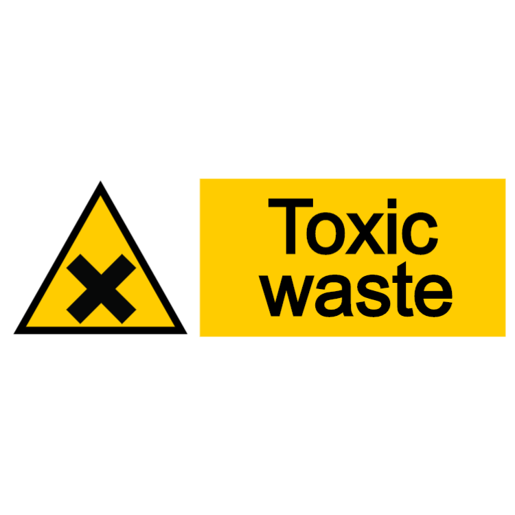 Toxic waste sign