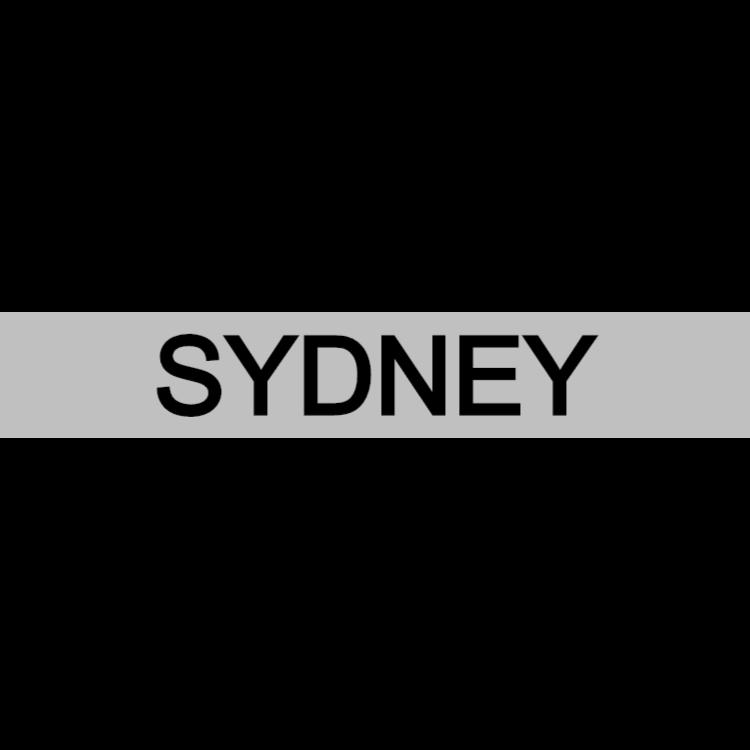 Sydney - silver sign
