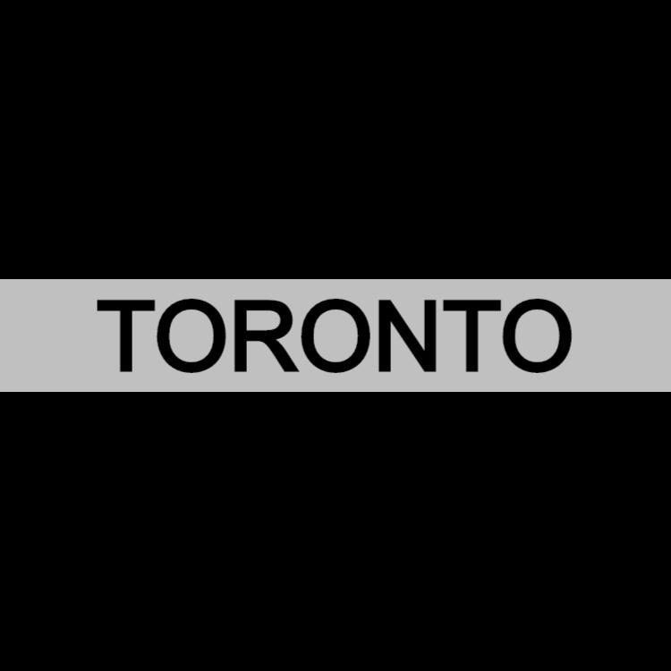 Toronto - silver sign