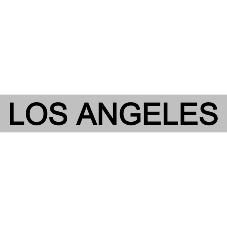 Los Angeles - silver sign