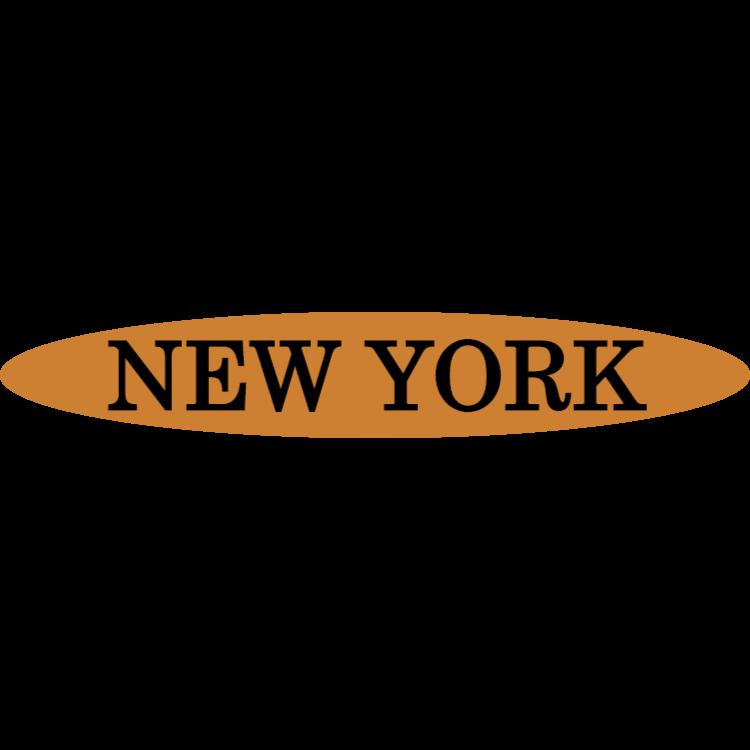 New York - gold sign