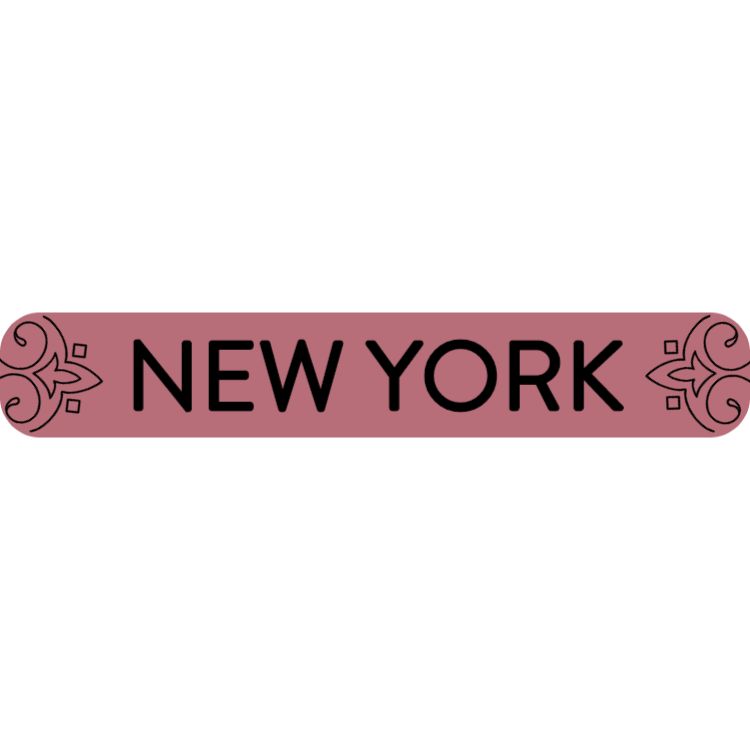 New York - rose gold sign