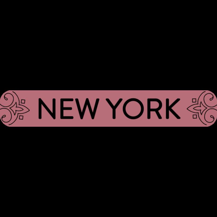 New York - rose gold sign