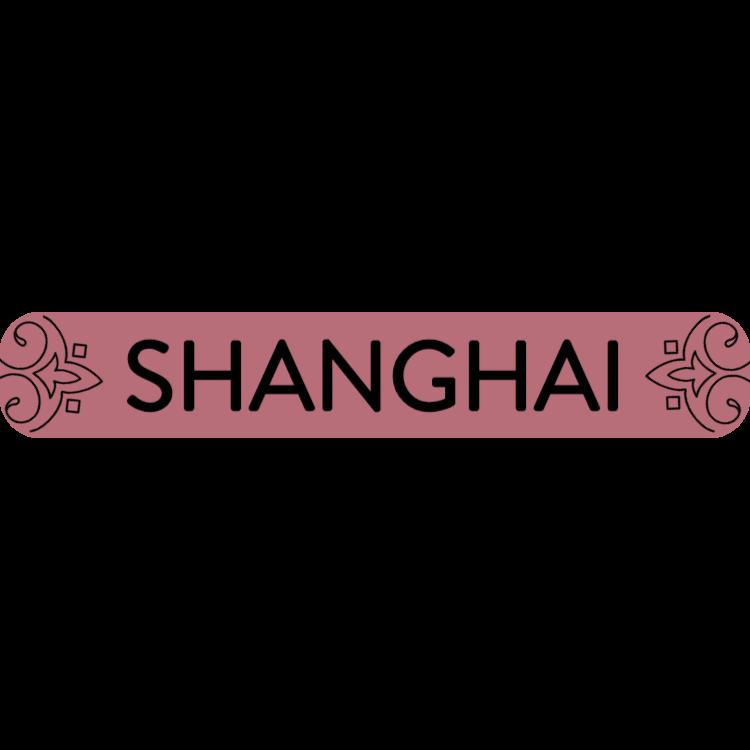 Shanghai - rose gold sign