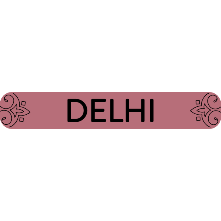 Delhi - rose gold sign