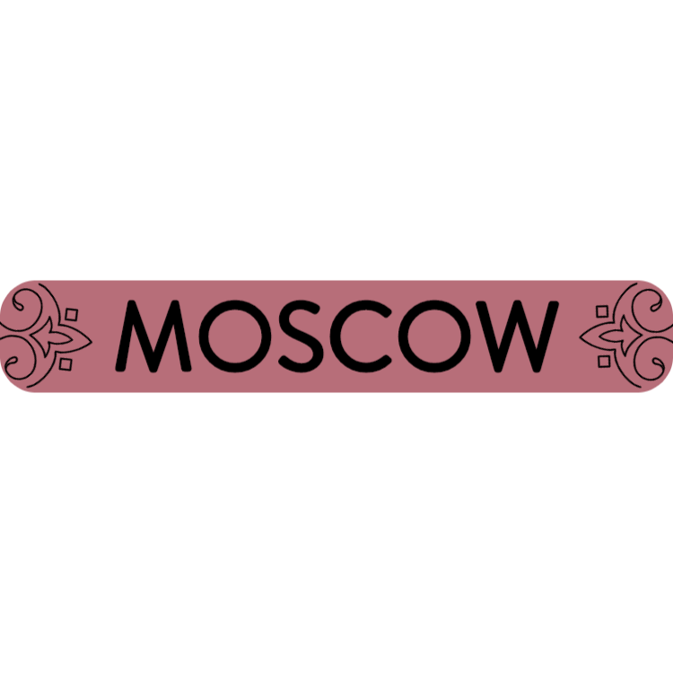 Moscow - rose gold sign