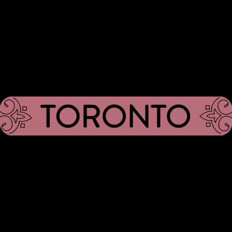Toronto - rose gold sign