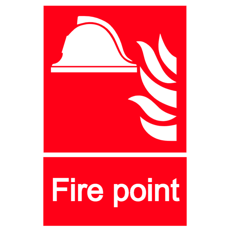 Fire point sign