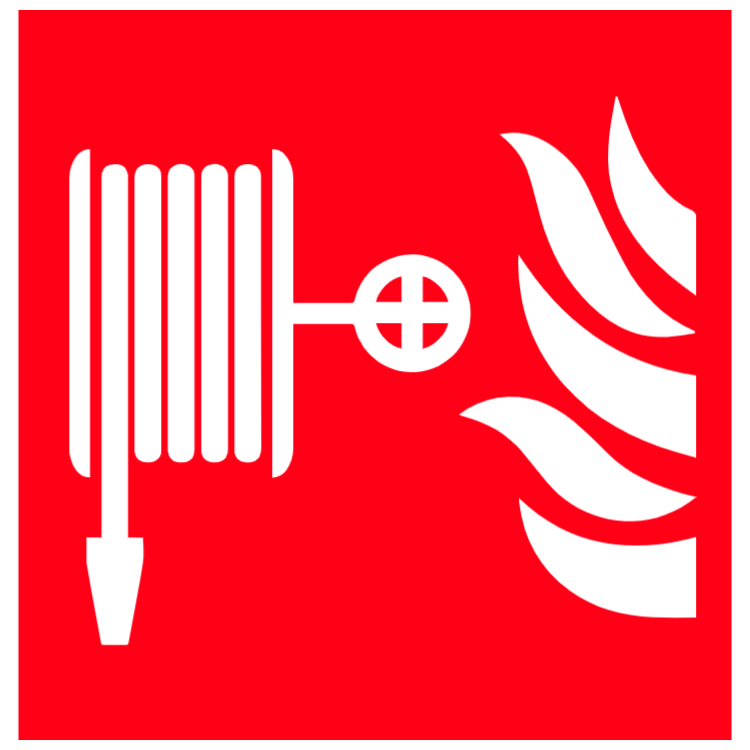 Fire hose reel symbol sign