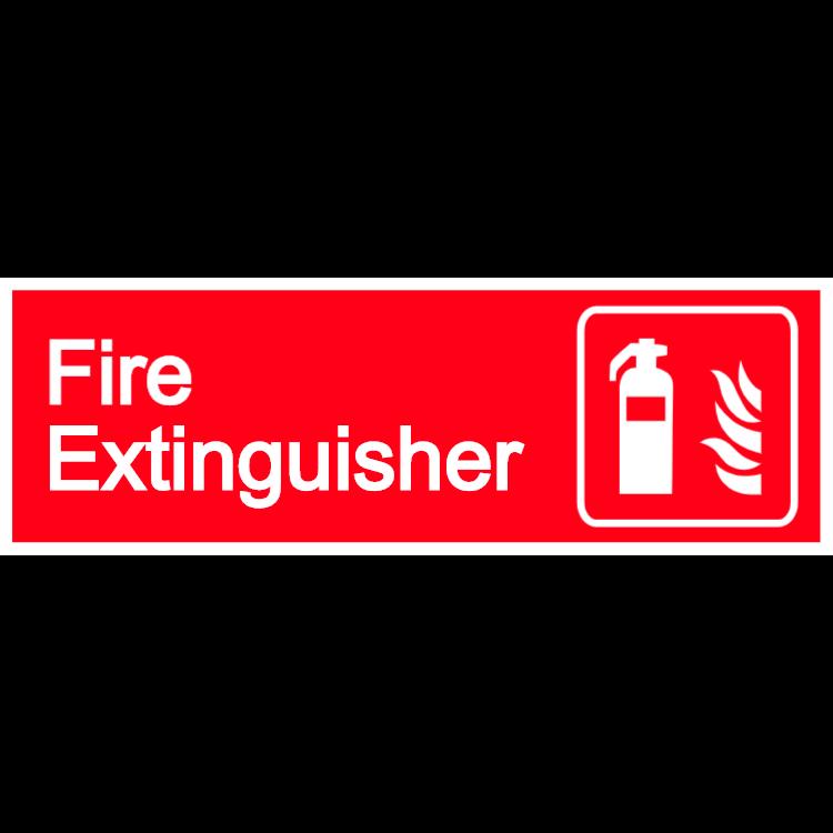 Fire extinguisher - landscape sign