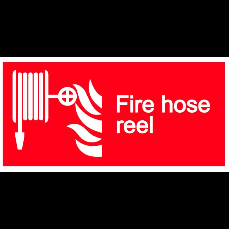 Fire hose reel - landscape sign