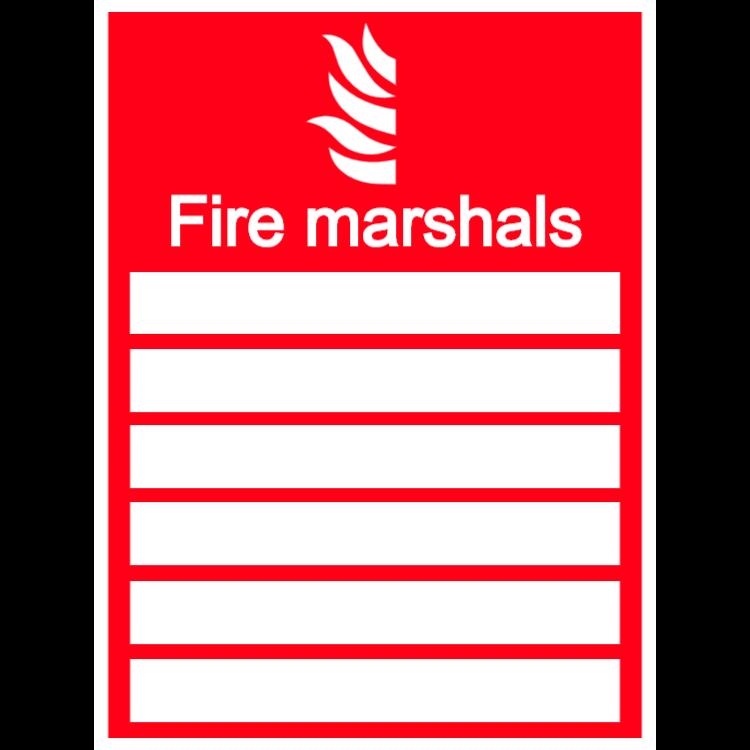 Fire marshals sign