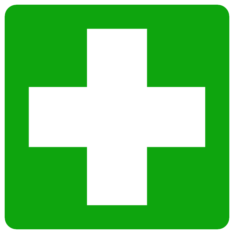 First aid - square sticker