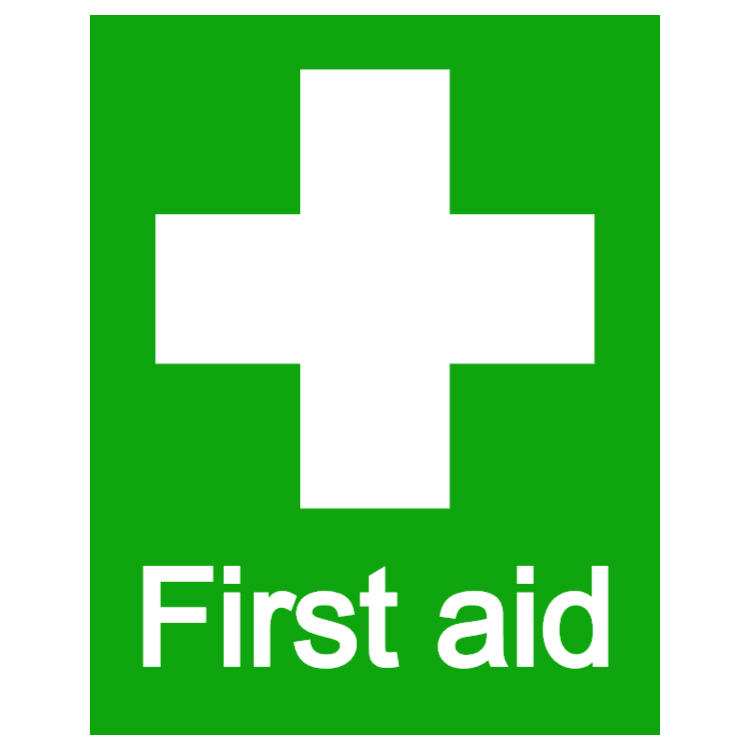 First aid - portrait sticker