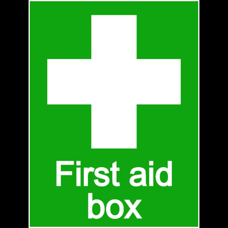 First aid box - portrait sticker