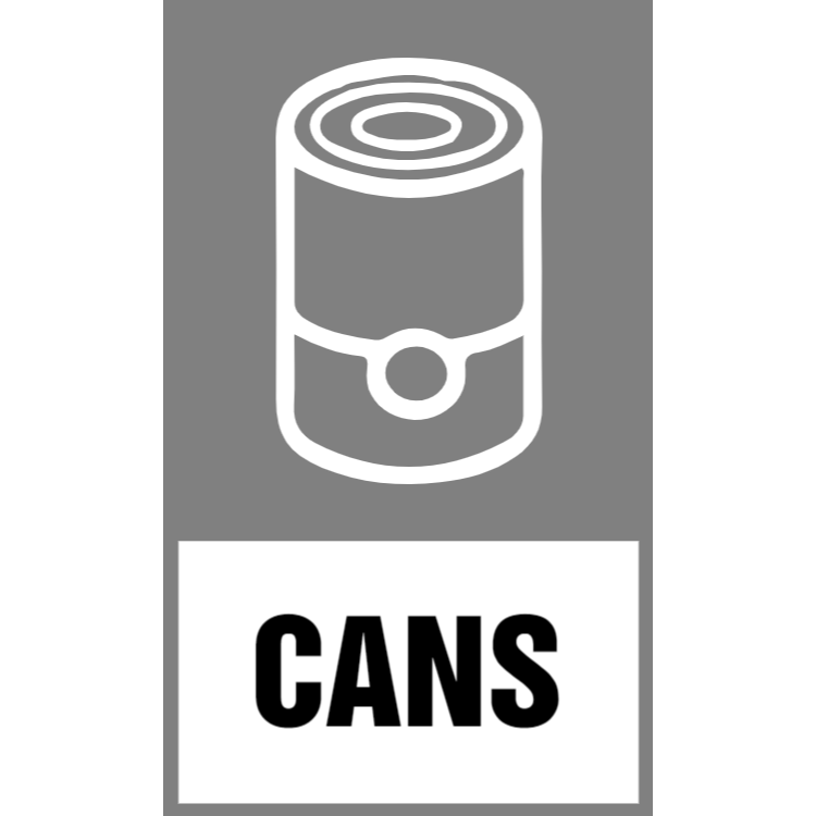 Grey cans sticker